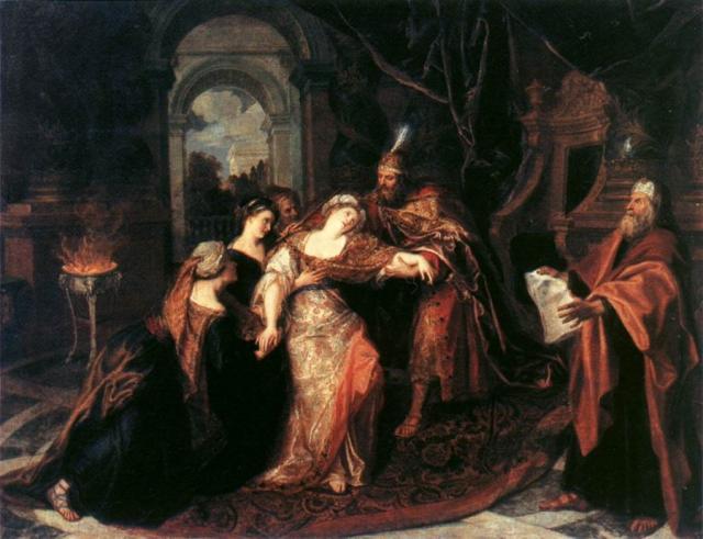 Ester al cospetto di Assuero - Coypel