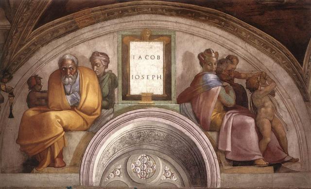 Antenati di Cristo: Giacobbe e Giuseppe | Michelangelo e ...
