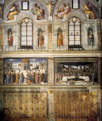 Cappella Sistina - interno parete