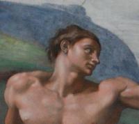 Genesi: Creazione dell'uomo - volto di Adamo