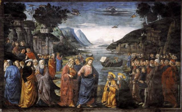 Vocazione dei primi apostoli - Ghirlandaio