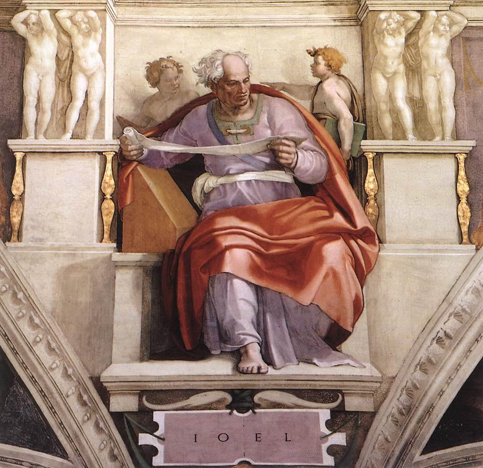 Profeta gioele michelangelo e la cappella sistina for Decorazione quattrocentesca della cappella sistina
