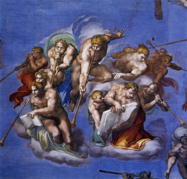 Giudizio: gli angeli con le trombe annunciano la fine dei tempi