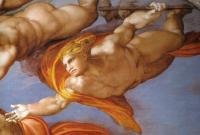 Giudizio: un angelo con il bastone e la spugna