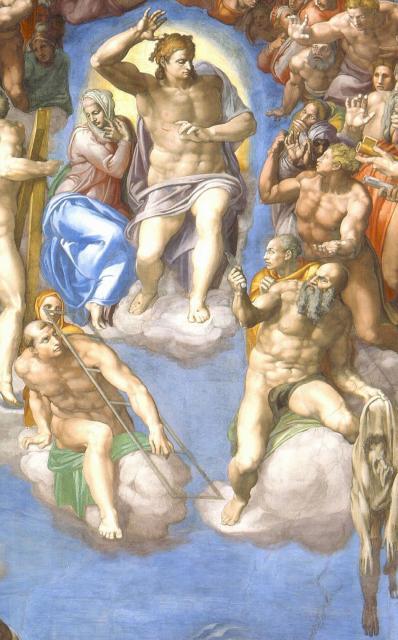 Giudizio: Cristo giudice con Maria, san Lorenzo e san Bartolomeo