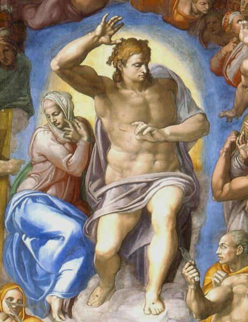 Giudizio: Cristo giudice con Maria