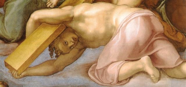 Giudizio: un angelo sorregge la croce