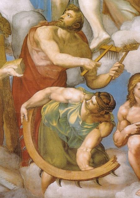 Giudizio: San Biagio e santa Caterina