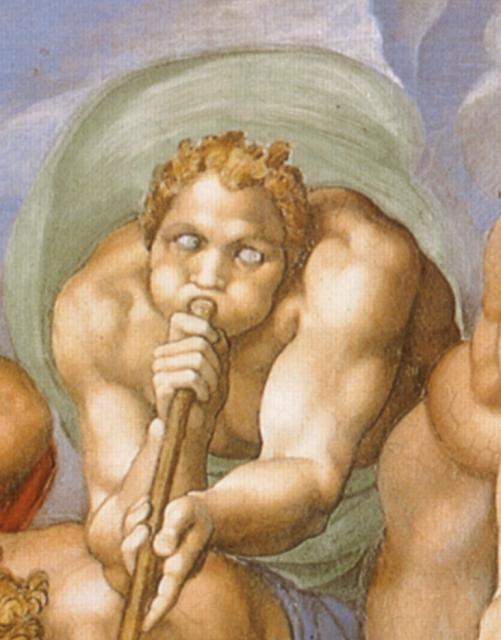 Giudizio: un angelo suona la tromba del Giudizio