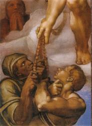 Giudizio: gruppo del rosario - particolare 2