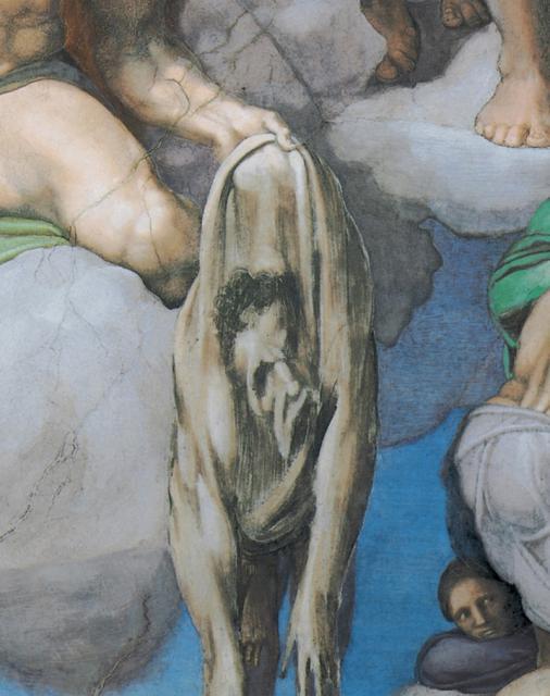 Giudizio: san Bartolomeo con l'autoritratto di Michelangelo