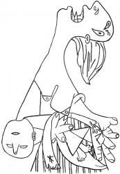 Guernica - Ricalco Pietà particolare