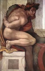 Ignudo 2 - Cappella Sistina