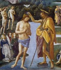Battesimo di Cristo - particolare