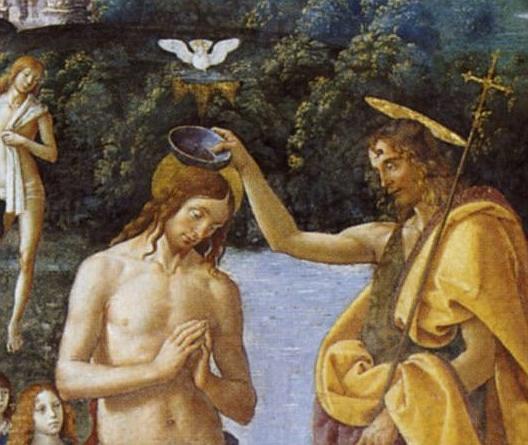 Battesimo di Cristo - particolare 1