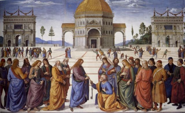 Consegna delle chiavi - Perugino