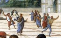 Consegna delle chiavi: tentata lapidazione di Cristo (particolare)