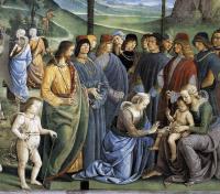 Circoncisione del figlio di Mosè - Perugino particolare