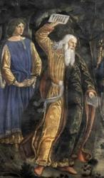 Mosè spezza le tavole della Legge - Rosselli particolare