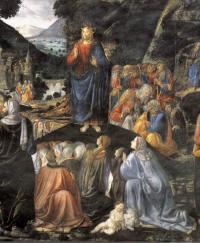 Discorso della montagna: Gesù (particolare)