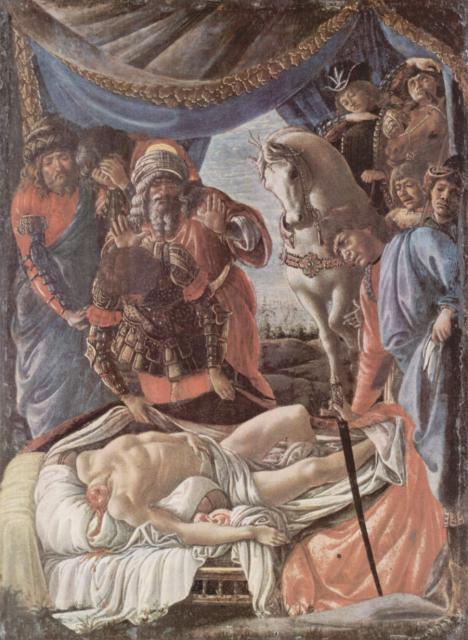 Scoperta del cadavere di Oloferne - Botticelli