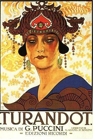 La locandina della Turandot