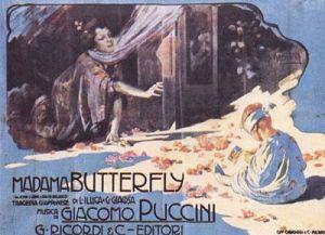 La locandina della Madama Butterfly