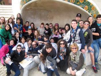 Foto di gruppo al Park Guell
