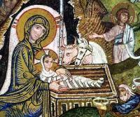 Icona Natività - particolare Maria e Gesù